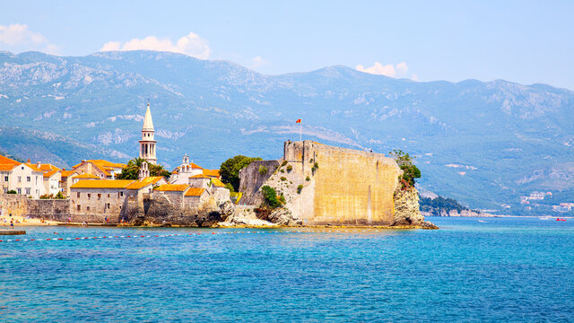 Old town of Budva in Montenegro