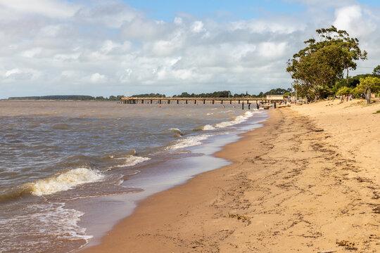 Beach in Lagoa do Patos lake