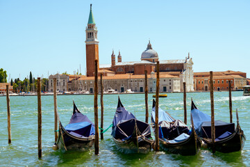 landscape with gondola and san giorgio maggiore island