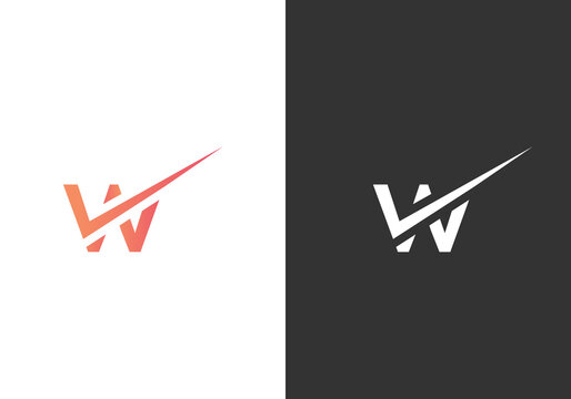 Simple Letter W Abstract Logo And Icon Design Template Vector