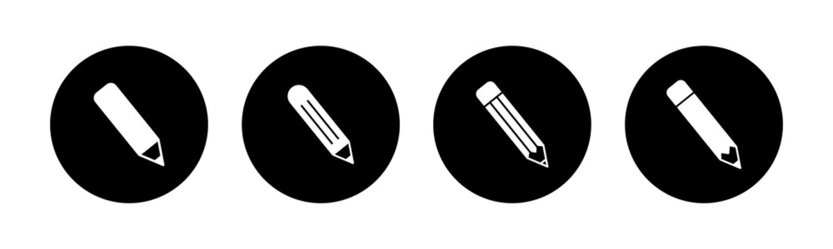 Pencil icons set. Pencil vector icon