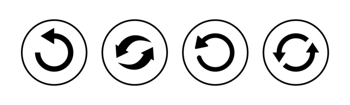 Refresh icons set. Reload icon vector. Update icon. convert icon