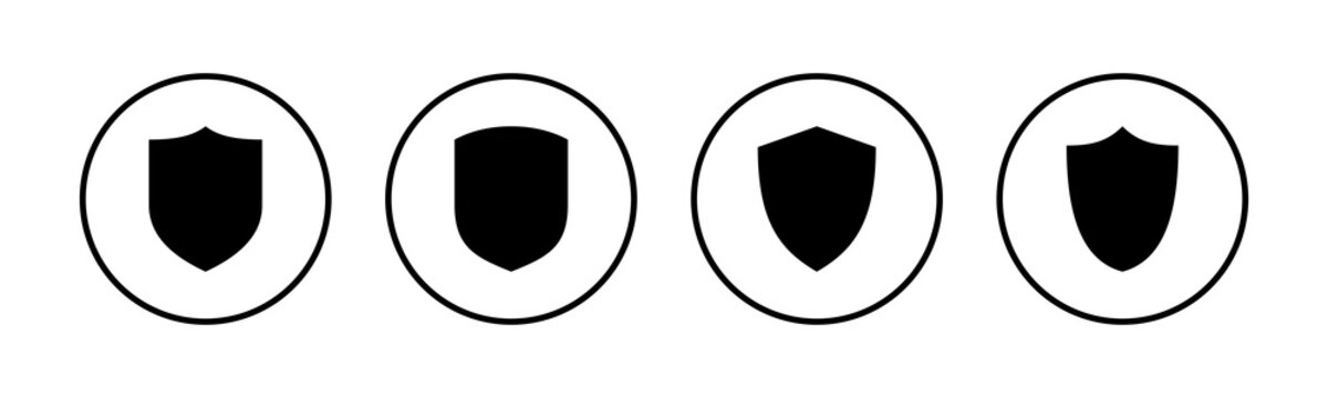 Shield vector icons set. Protection icon vector. Security vector icon
