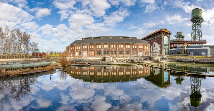 Bochum, Germany. Industrial heritage of Ruhr region. Former power plant panoramic view.