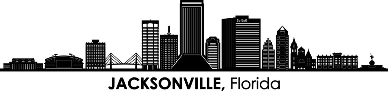 JACKSONVILLE Florida SKYLINE City Silhouette