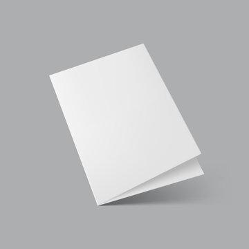 Blank Half Fold Brochure Template For Presentation