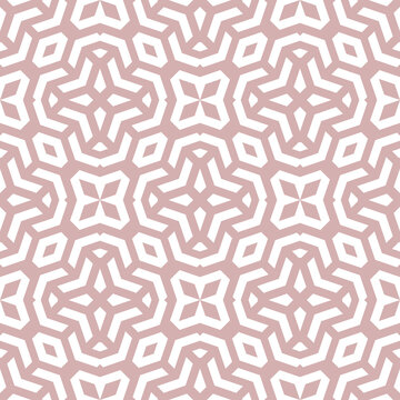 Seamless background for your designs. Modern ornament. Geometric abstract pink and white pattern