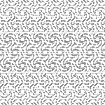 Seamless ornament. Modern background. Geometric modern silver pattern