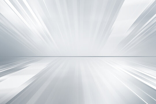 Futuristic white perspective lines on grey backgound