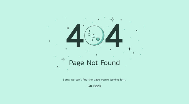 page not found 404 error concept on the website screen and having problems due to broken web page, vector flat illustration