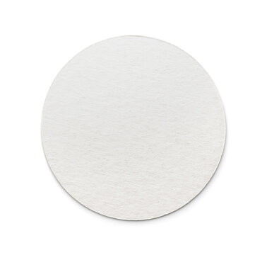 Front view of blank round cardboard beer coaster