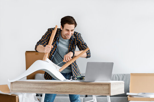 Hobby, furniture assembly and online instructions at home