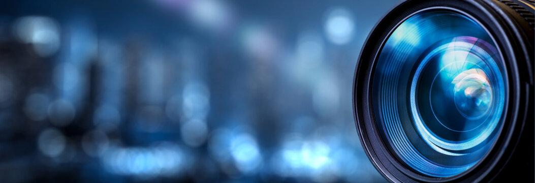 Photography camera lens.