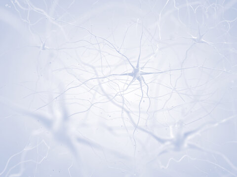 Human brain nerve cells abstract illustration concept. The neurons are a part of the central nervous system.