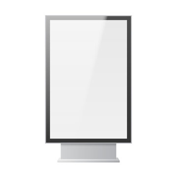 Blank billboard for public transport stop and outdoor advertisement template