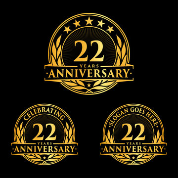 22 years anniversary collection logotype. Vector and illustration.