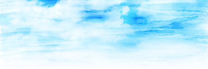 空 雲 水彩 風景