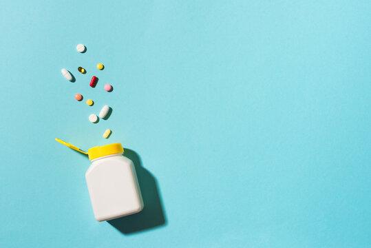 Various pills in bottle