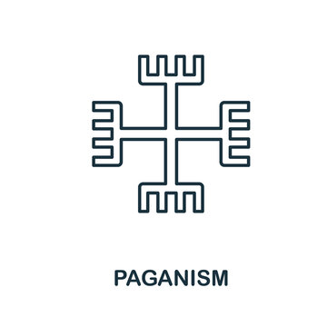 Paganism icon. Simple element from religion collection. Creative Paganism icon for web design, templates, infographics and more