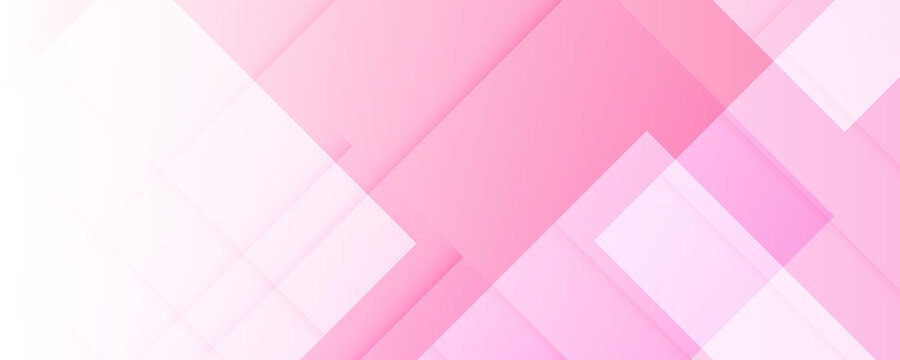 Vector square shape of pink white geometric abstract background