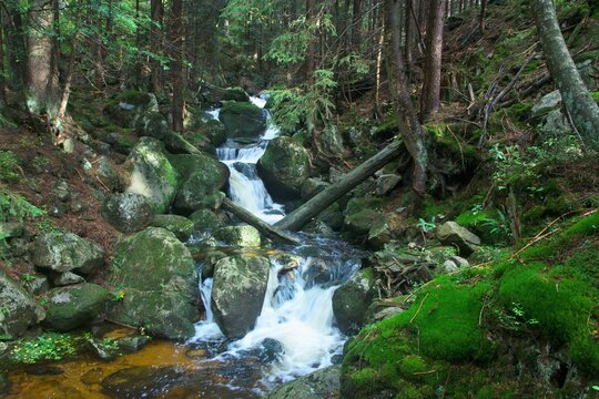 Czech Republic - view of the rapids in the Dvorsky stream near the town of Spindleruv Mlyn