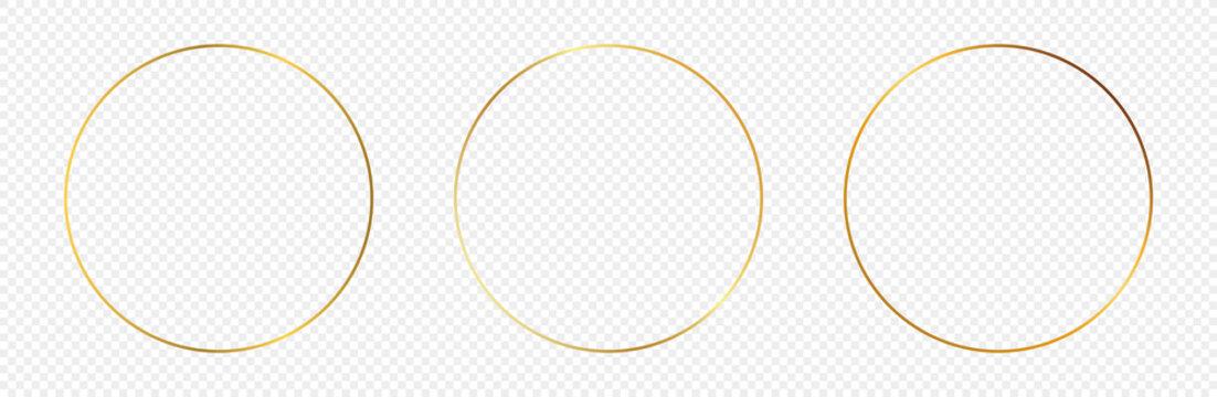 Gold glowing circle frame
