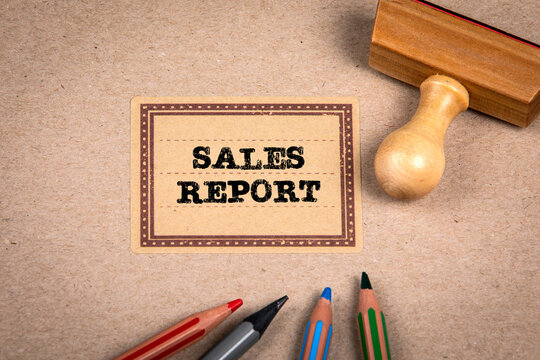 SALES REPORT. Cardboard notebooks cover and office supplies
