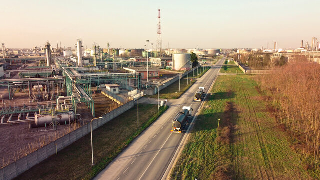 industrial landscape from drone