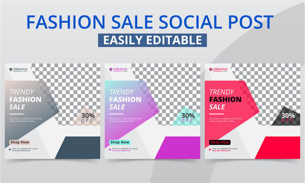 Minimalist clothing social media post design for the shop owner new arrival & best collection promo ads banner. Modern geometric premium garments fashion sales social layouts square web templates.