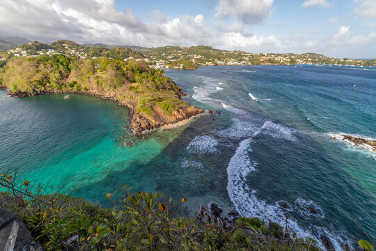 Saint Vincent and the Grenadines, view from   Fort Duvernette