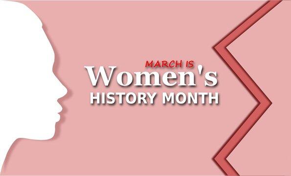 Women's History Month. Poster, postcard, banner. Vector illustration