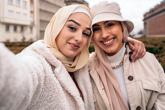 Cheerful Muslim Friends