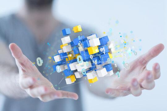 Big data cloud digital 3d
