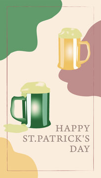 st patrick day background, flyer; greeting card