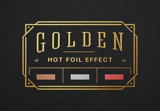Hot Foil Embossing Logo Mockup