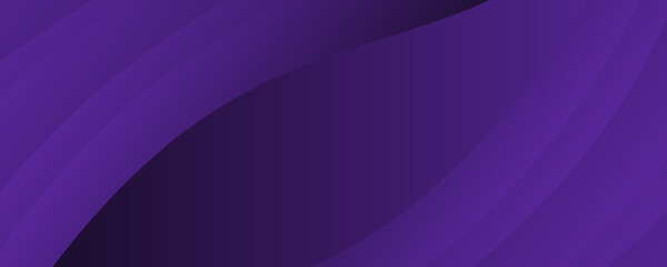 Fototapeta Dark violet background for wide banner with wave shapes. background illustration with moderate violet, dark orchid and very dark blue color and space for text or image. can be used as header or banner