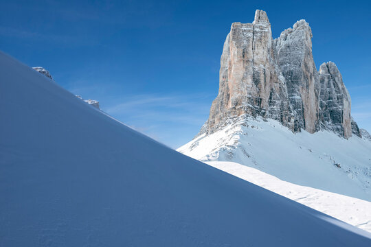 majestic, pointed, high and scenic snowy mountains