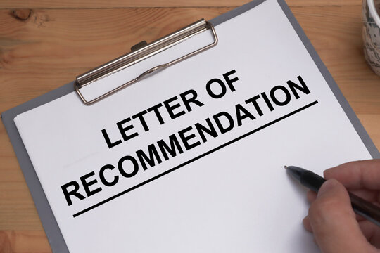 Letter of Recommendation, text words typography written on paper, life and business motivational inspirational