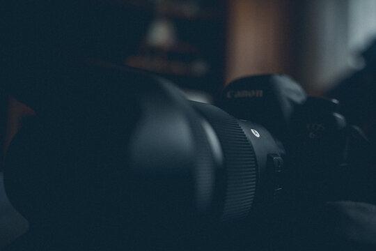 BRCKO, BOSNIA AND HERZEGOVINA - Mar 07, 2017: Sigma Art lens on Canon dslr camera
