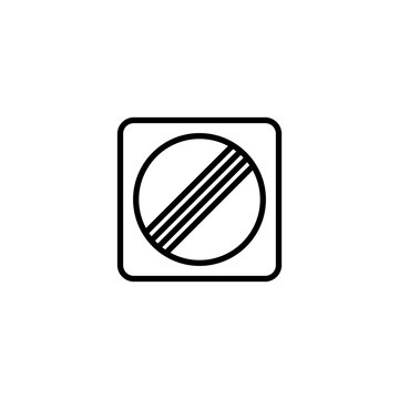 End all restrictions icon illustration.