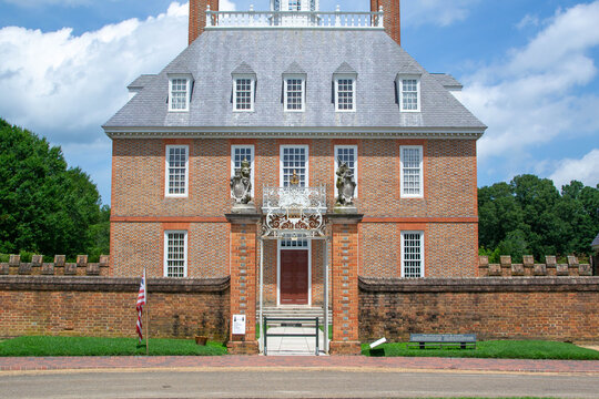 Front of a colonial museum