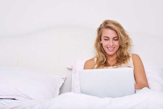 Working from home in bed