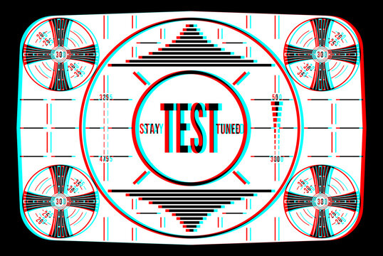 Stay Tuned Television Test Pattern