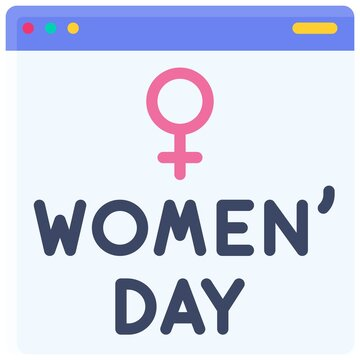 Application Window icon, International Women's Day related vector