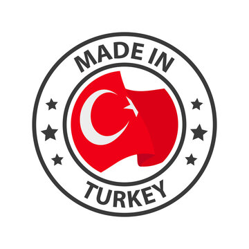 Made in Turkey icon. Stamp sticker. Vector illustration