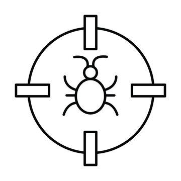 Bug malware Vector Icon