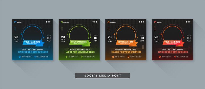 Digital marketing business social media post template
