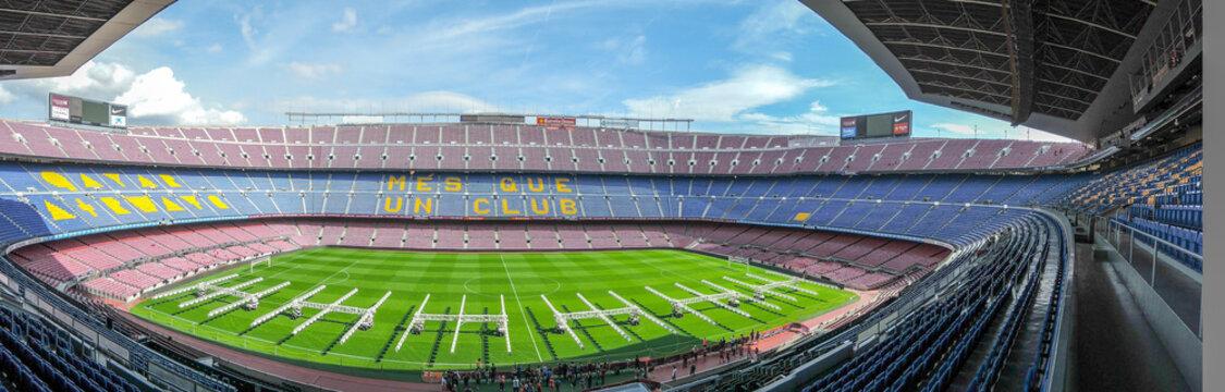 BARCELONA, SPAIN - Oct 19, 2017: fc barcelona camp nou stadium