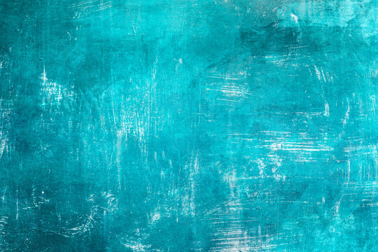 Blue painted grungy backdrop