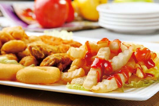 Tasty french fries. fry potato chips. delicious potato fry.
